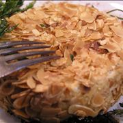 Picture Of Camembert Cheese With Almonds