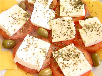 Picture Of Cheese Tomato And Olives