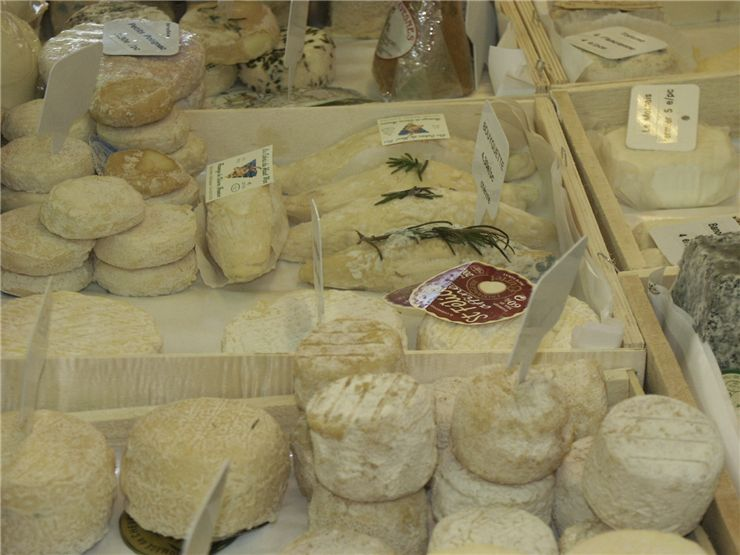 Picture Of Selling Varieties Of Cheese